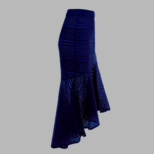 Lace Up Hollow Out Asymmetric Mermaid Bodycon Skirt. (3 Colors Available)