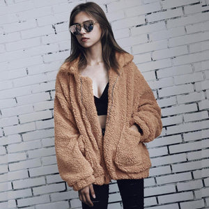 Oversized Faux Shearling Fleece Winter Teddy Coat. (9 Colors Available)