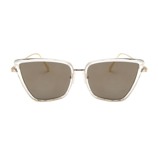 Cat-Eye Metal Frame Brand Designer Vintage Sunglasses. (6 Colors Available)