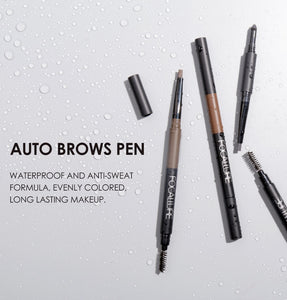 3 in 1 Waterproof Long Lasting Eyebrow Pencil, Powder & Brush Set. Focallure By Uvenux (4 Colors Available)