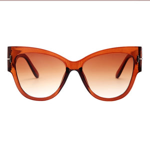 Oversized Cat Eye Gradient Brand Designer Sunglasses. (6 Colors Available)