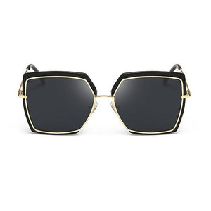 Square Edge Cat Eye Alloy Frame Designer Sunglasses. (7 Colors Available)