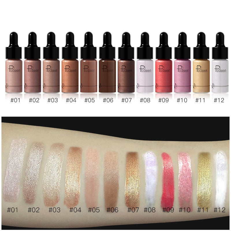 Long Lasting Face Contour Liquid Bronzer Highlighter/Illuminator. (12 Colors Available)
