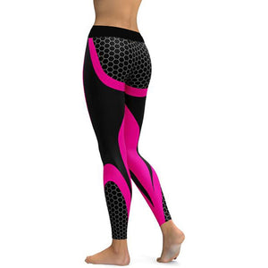 Mesh Pattern Print Fitness Leggings. (9 Colors Available)