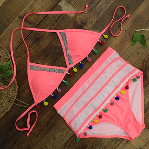High Waist Push Up Brazilian Style Two Piece Bikini. (11 Styles Available)