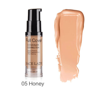 Waterproof Full Cover Liquid Makeup Base Concealer & Corrector Face Cream. (8 Colors Available)