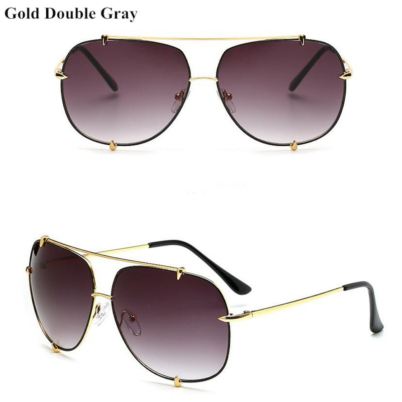 Women Oversized Retro Brand Designer Pilot Sunglasses. (5 Colors Available)