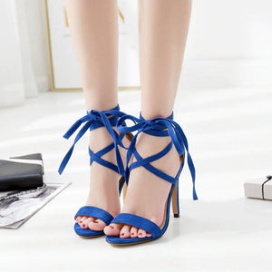 Open Toe Ankle Strap Gladiator High Heel Sandals. (2 Colors Available)