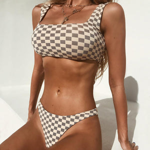 Bandage Push Up Brazilian Style Two Piece Bikini.