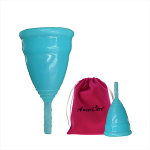 Medical Grade Silicone Menstrual Cup + 2 (L + S) (Feminine Hygiene Product)