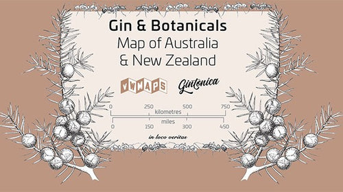 Gin & Botanicals Map of Australian and New Zealand 1st edition