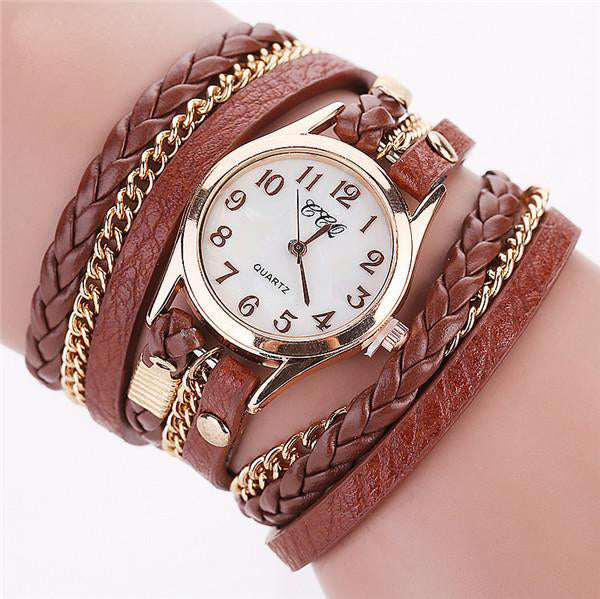 Hot Sale Casual Leather Bracelet Women Watches