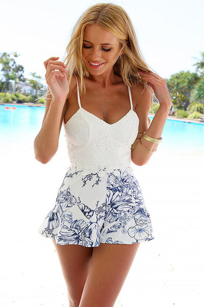Women Sexy Lace Crochet Rompers