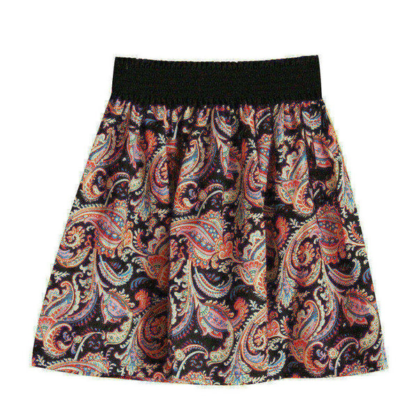 Mini Chiffon Print Pleated High Waist Skirts