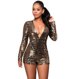 V-Neck Women High Waist Rompers