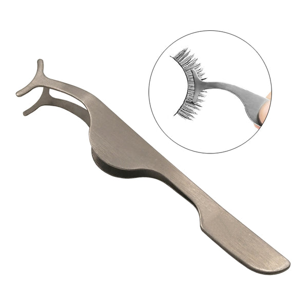 Stainless Auxiliary False Eyelash Curler Clip