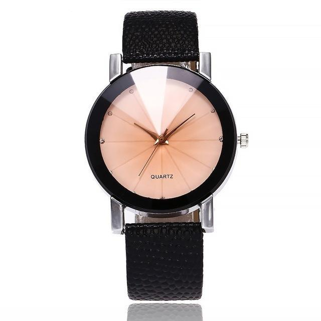 Women Leather Strap Wrist Watch