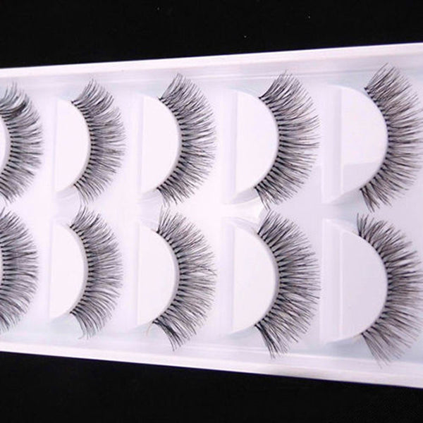 Natural Black Long Sparse Cross False Eyelashes