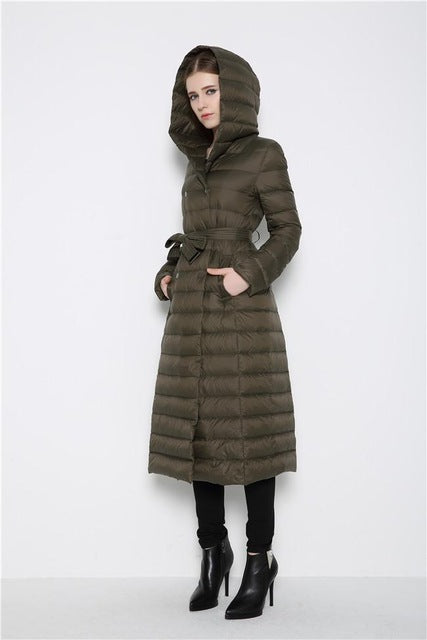 Ultra Light Duck Down Long Coat