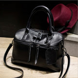 2018 Genuine Leather Boston Women Handbag