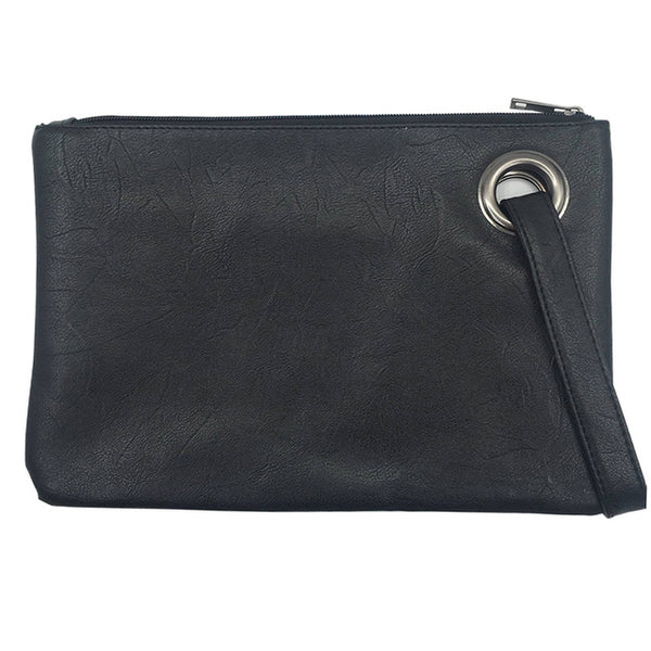 Leather Female Clutches Handbag