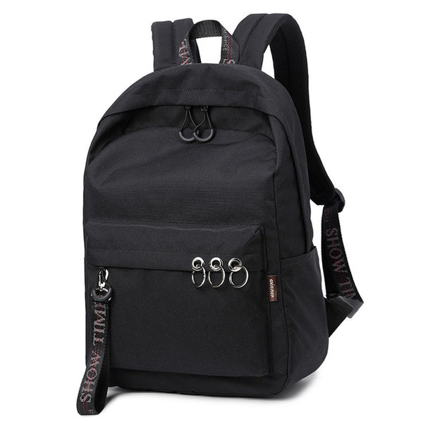 Large Capacity Solid Color Women Backpack