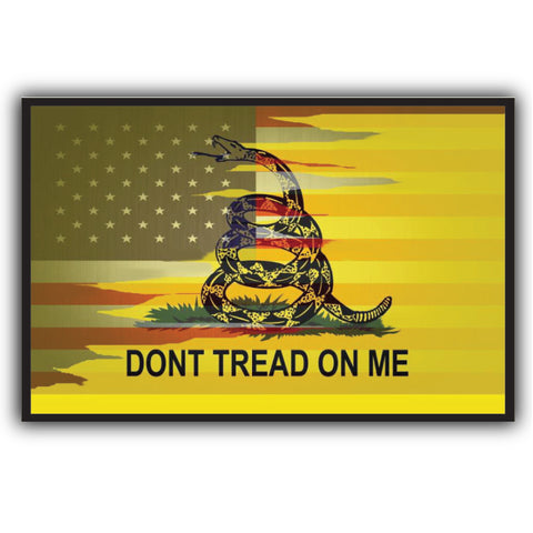 American/Gadsden Flag Sticker