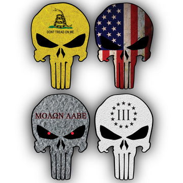 Punisher Stickers 4 Pack