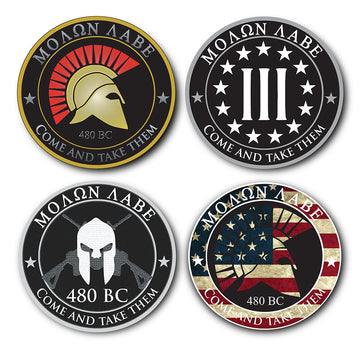 4 Pack Molon Labe Stickers