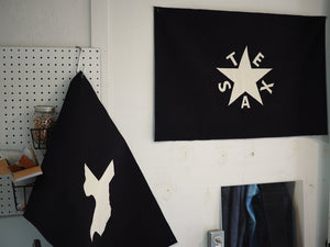 Zavala Flag - Indigo Canvas