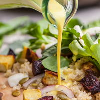 Arugula Salad with Turmeric Dressing