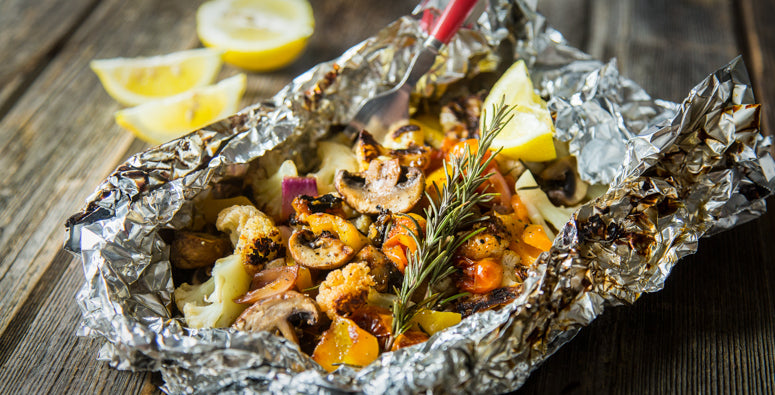 Grilled Veggies & Stone Fruit Camping Recipe