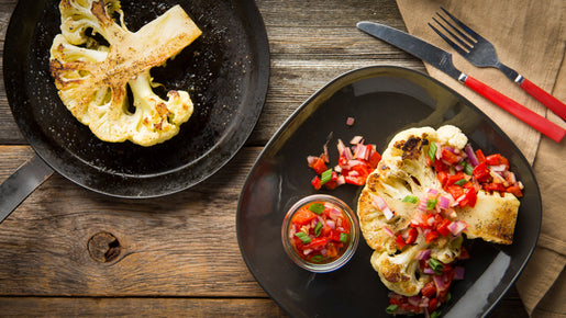 Cauliflower Steak with Roasted Red Pepper Relish