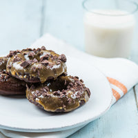 Chocolate Gluten-free Donuts with Peanut Butter Frosting