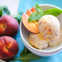 Coconut Peach Vegan Frozen Yogurt