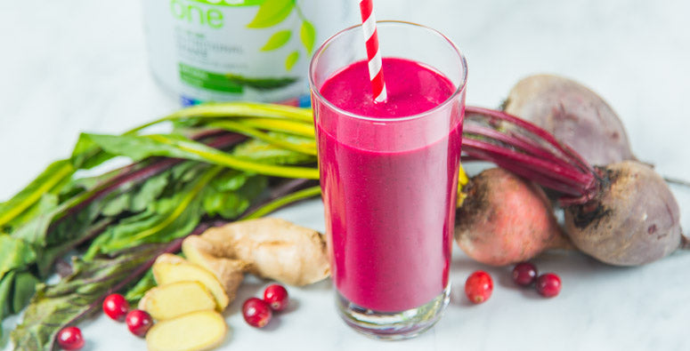 Cranberry Ginger Beet Smoothie