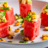 Watermelon, Avocado and Grilled Corn Salad