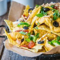 Nachos with Vegan Cheese Sauce–3 Variations