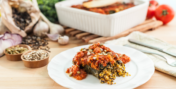 "Kale ""Cabbage"" Rolls"