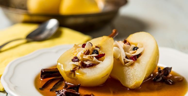 Pecan Poached Pears