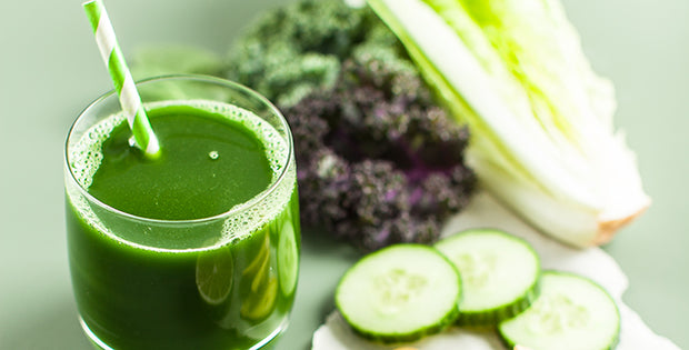 Easy Green Juice with Cucumber, Kale and Ginger
