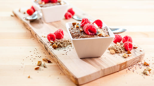 Chocolate Raspberry Chia Pudding