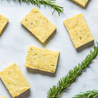 Olive Oil Rosemary Shortbread