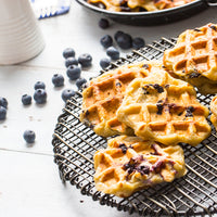 Blueberry Protein Pancakes and Waffles