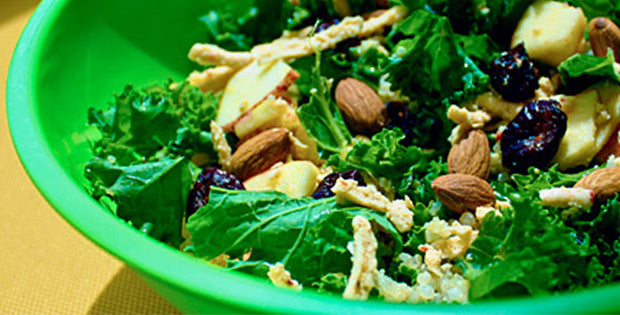 Kale Quinoa Salad with Apple