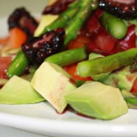 Blackberry Asparagus Salad with Blackberry Vinaigrette