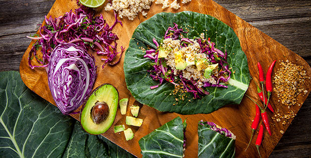 Collard Green Lettuce Wraps
