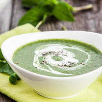 Green Garbanzo Bean and Mint Soup