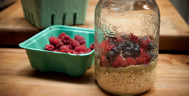 Overnight Oats with Berries from Jacked on the Beanstalk