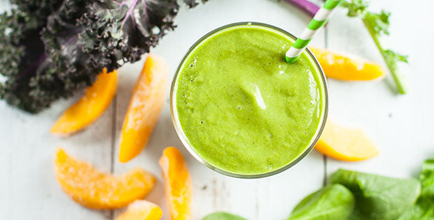 Peaches and Greens Smoothie